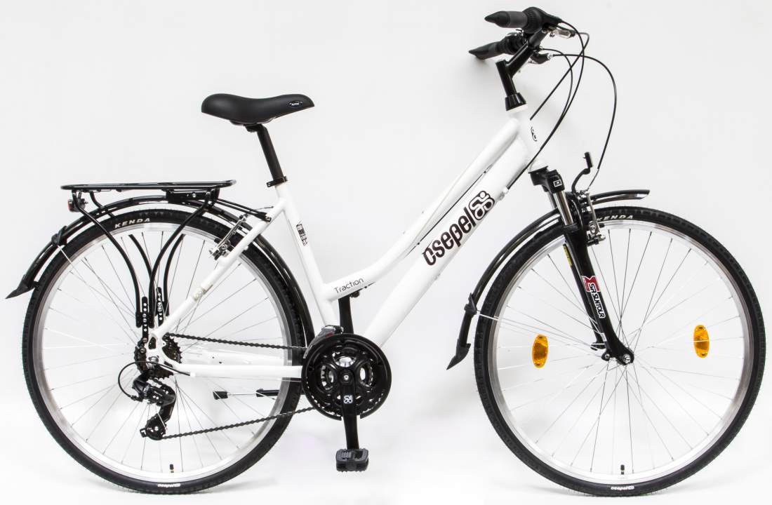 Csepel Traction 100 női kerékpár krém szín