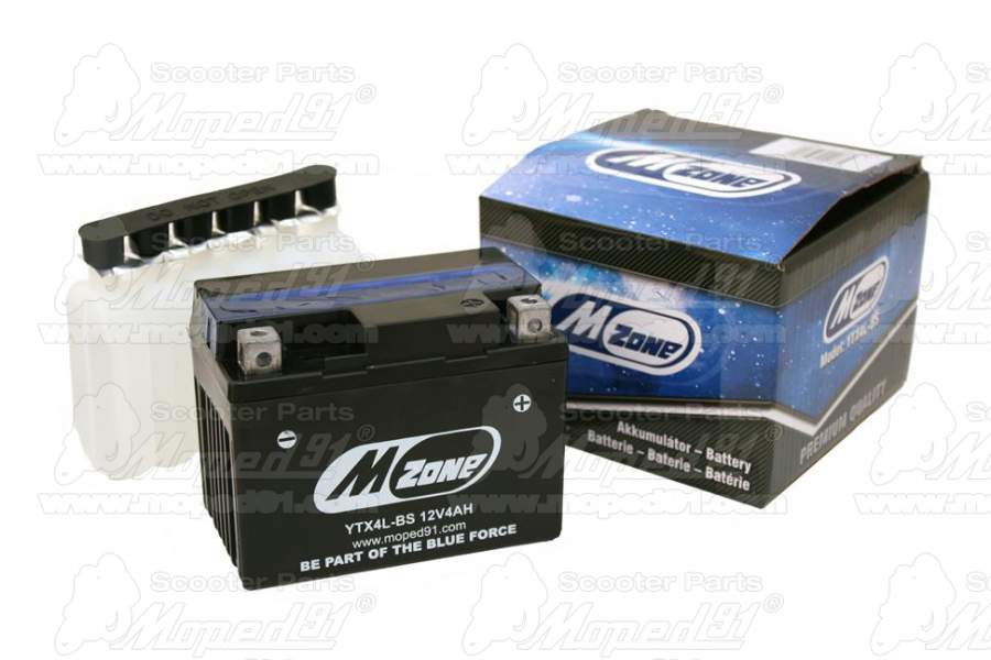 Akkumulátor  MZone YTX4L-BS 12V 4 Ah
