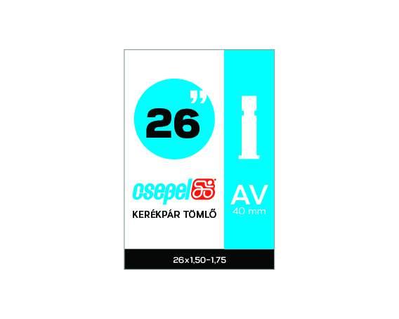 TÖMLŐ CSEPEL 26X1,50-1,75 AV 40MM, kerékpárhoz
