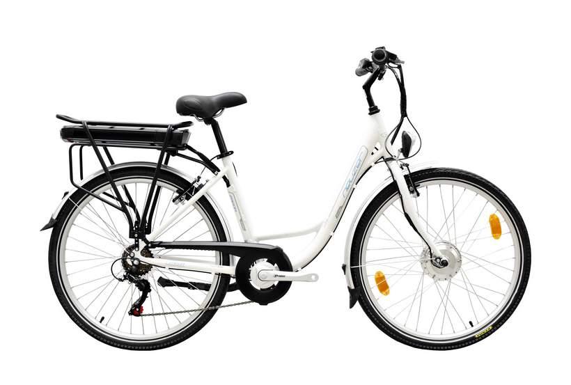 Neuzer E-City Zagon női MXUS elektromos kerékpár matt fehér